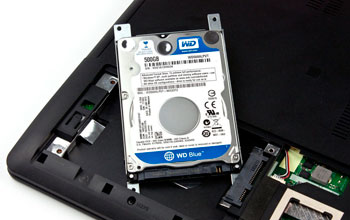 Замена жесткого диска в ноутбуке СПб